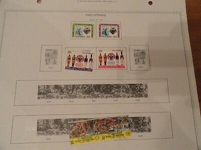 Philippine stamps min hinged and used hinged on pages 1986