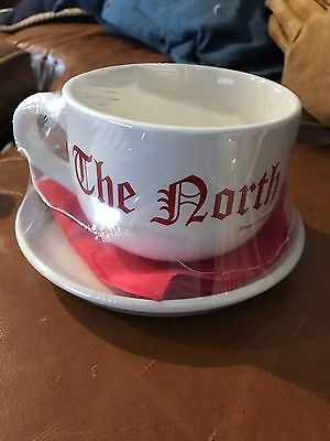 North Pole Express Steam Railroading Institute Cup with Saucer and Napkin New