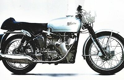 """The Thruxton"" - Velocette's Road Legal Racer - Classic Motorcycle Print"