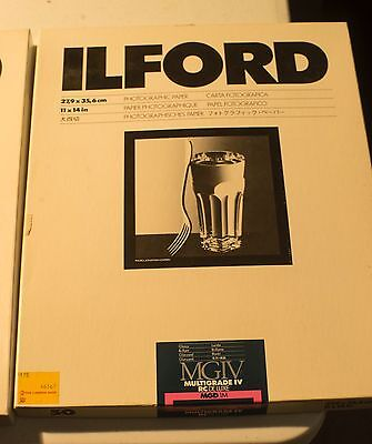 ILFORD B&W Photographic Paper - MG1V - 2 boxes - 11x14 - 30 sheets
