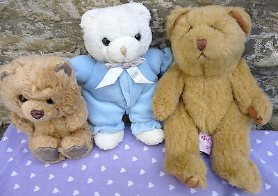 x 6 Bundle Soft Toy Bears Russ Berrie, Gund 'Hiccup', Disney Pooh, Boyds