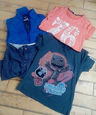 Boys size 9/10 years spring/summer t-shirt/jacket & short mixed brands bundle