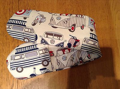 NEW! Large Camper Vans  Blue/Red Double Oven Glove