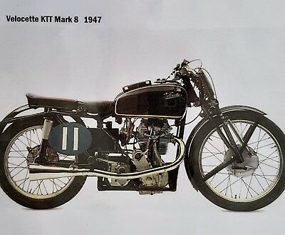 Motorcycle Print - Velocette KTT MK8  Others & Discount Available