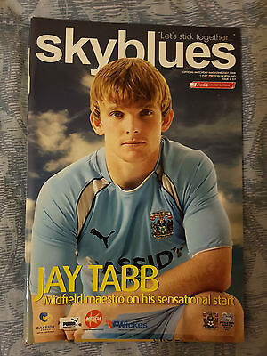 2007/08 Coventry City Vs Preston North End Official Matchday Programme: Football