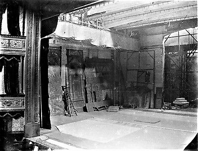PHOTOGRAPHIC GLASS NEGATIVE STAGE AT THE THEATRE ROYAL NOTTINGHAM c1920's
