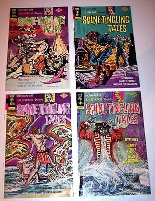 Lot of 4 GOLD KEY Dr Spektor Spine Tingling Tales Comic Book Books # 1, 2, 3, 4