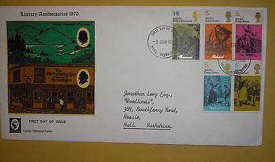 """GB """" Literary Anniversaries"""" first day cover - 1970"""