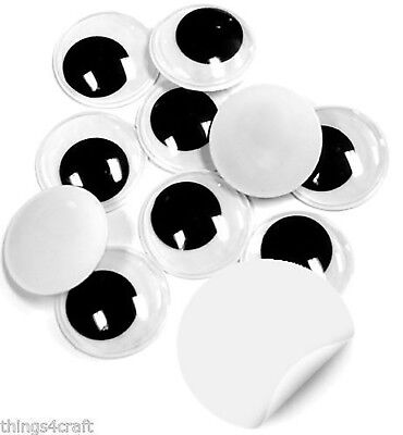 Googly Eyes 15mm Self Adhesive - Peel and Stick Eyes