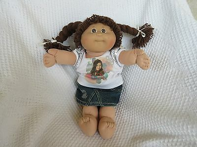 Vintage Cabbage Patch Kid Doll Brown Hair/Eyes + Outfit
