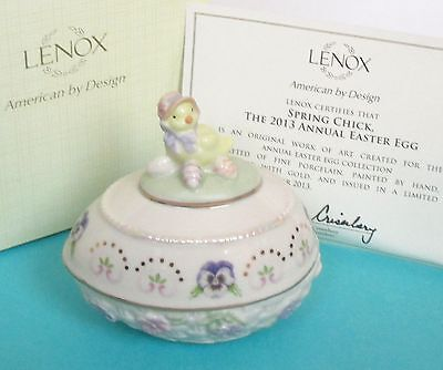 Lenox Annual 2013 SPRING CHICK Easter Egg Figurine - New in box