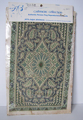 Vintage Miniature Dollhouse Cashmere Collection Persian Rug New in Package