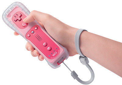 Pink Remote Controller & Nunchuck For Nintendo Wii With Built In Motion Plus