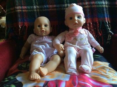 Two Loveable Zapf Dolls One Battery Wearing Annibel Outfits