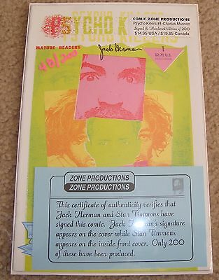 Psycho Killers #1 - Charles Manson! Signed & Numbered Comic Zone Only 200 Print!