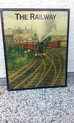 """Fabulous Picture """"The Railway""""- Oil Painting On Metal"""