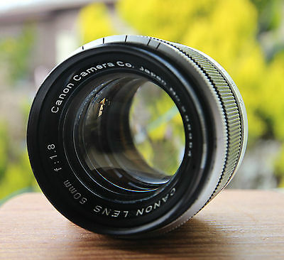 Canon vintage black lens 50mm/F1.8 with Leica 39mm screw mount