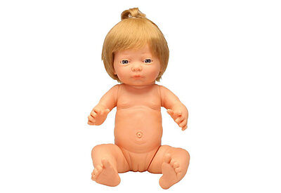 Caucasian Baby Girl Doll With Hair by Les Pluminis