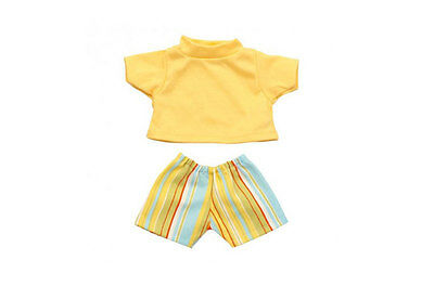 Striped Shorts and Yellow Shirt by Les Pluminis
