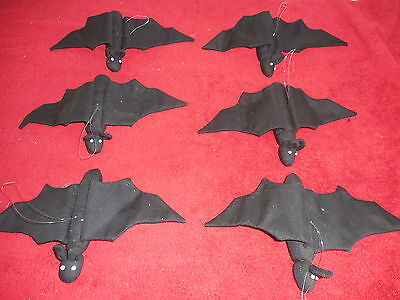 6 Hanging Cloth Bat Halloween party home decoration(JS)