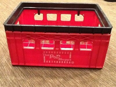 Vintage The Pop Shoppe Plastic Carrying Case Soda Bottle Crate