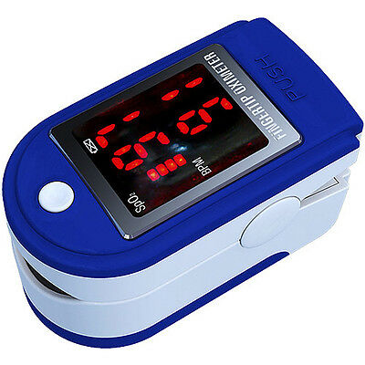 AAJ Finger Pulse Oximeter with LED Display-Includes Carrycase, 2 x AAA Batteries