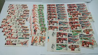 Lot Of 160 US Air Mail Stamps SC# C101-C112 MNH OG Olympic Stamps Below Face $57
