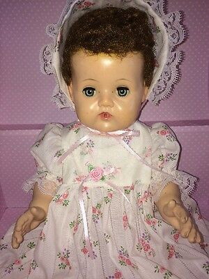 """American Character Original 1950's Tiny Tears 17"""" Large Doll With Storage Trunk"""
