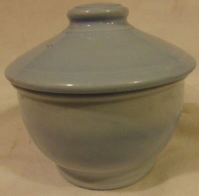 Vintage Lune Blue Buffalo China Restaurant Ware Pedestal Bowl with Lid Rare