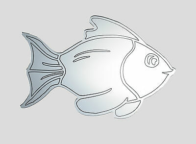 Fish acrylic mirror - home bathroom childrens wall shatterproof