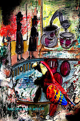 """A4 print colourfull contemporary art work """"something different"""" signed art ©"""