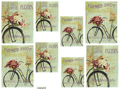 FRenCh FLoWeR SHoP VinTaGe ShaBby WaTerSLiDe DeCALs *PaRiS ChiC*