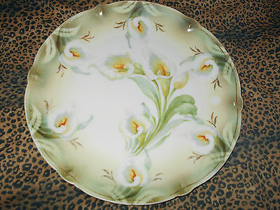 RS Prussia/ Germany Style Calla Lily Charger~Fancy Victorian Molding ~Pearlized~