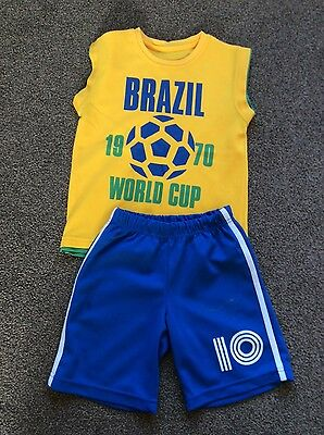 Boys Brazil shorts & top age 5-6 years