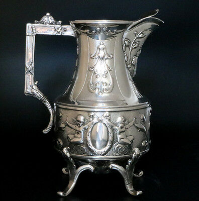 Antique Georg Roth & Co. Hanau Germany Silver Pitcher