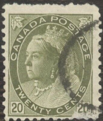 Stamp Canada # 84, 20¢, 1898, lot of 1 used stamp.