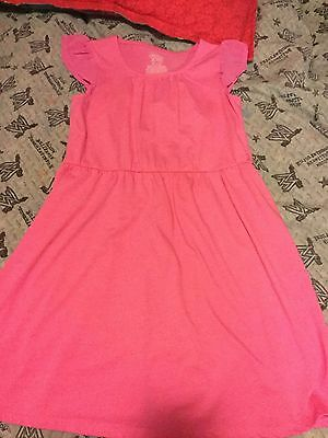 Faded Glory Girl's Hot Pink Butterfly Sleeve Dress Size M (7/8)