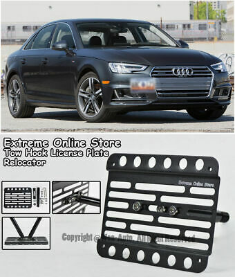 EOS Plate For 2017-Up Audi S5 B9 Front Bumper Tow Hook License Mount Bracket
