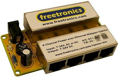 Freetronics 4 Channel PoE Midspan Injector for Arduino