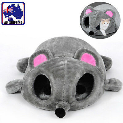 Cartoon Mouse Cat Cave Pet House Cushion Nest Soft Mat Sleeping Bed PDBE32285