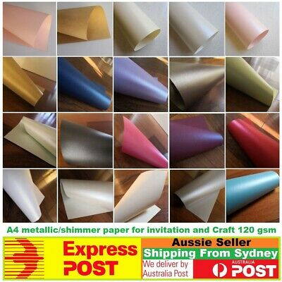Red paper 20 x A4 metallic/shimmer for invitation and Craft -120gsm Kraft