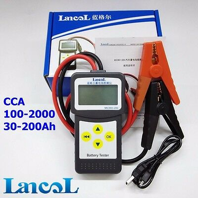 MICRO-200 12V Digital Automotive Car Battery Load Tester with USB for printing