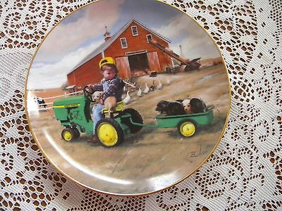 Tractor Ride by Donald Zolan Limited Edition Plate # K5501 John Deere