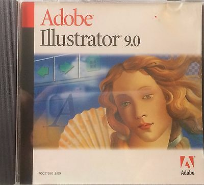 ADOBE ILLUSTRATOR 9.0 Vector Graphics Software Mac Full Retail w/ Serial Number