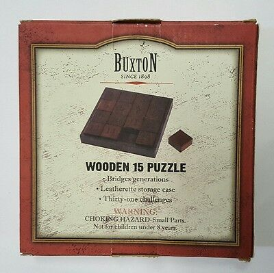 Buxton Wooden 15 Puzzle Brand New
