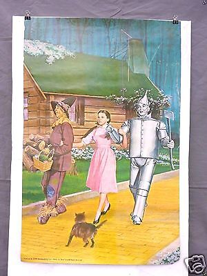 RARE Large 1960s Wizard of Oz Movie Poster