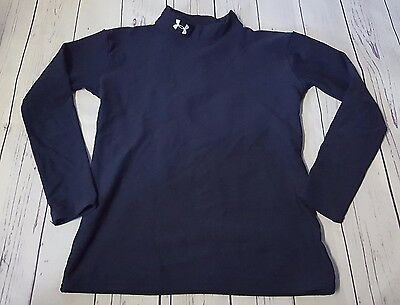 Under Armour Boys Xl Cold Gear Navy Blue Compression Shirt