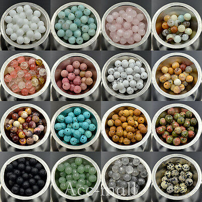 Natural Faceted Gemstone Round Loose Beads Wholesale Lot 4mm 6mm 8mm 10mm 12mm