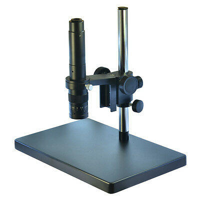 Metal Boom Stereo Microscope Camera Table Stand Holder + 300X Zoon C-mount Lens