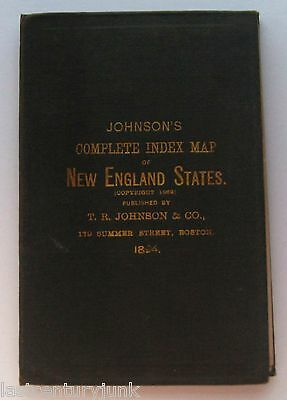 Johnson's Complete Index Map of New England States 1894